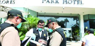 El operativo fue realizado por cinco equipos que recorrieron hoteles de San Isidro y Miraflores
