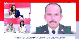 Degradan a coronel ocho años después de fallecido