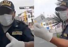 El incidente fue protagonizado por dos policías.
