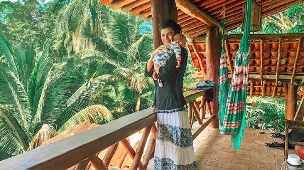 Nicole Faverón se encuentra varada en una isla de Brasil con su familia