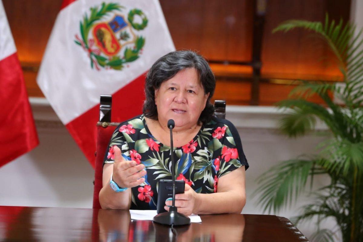 Ministra de Desarrollo e Inclusión Social anuncia nuevo bono de S/760