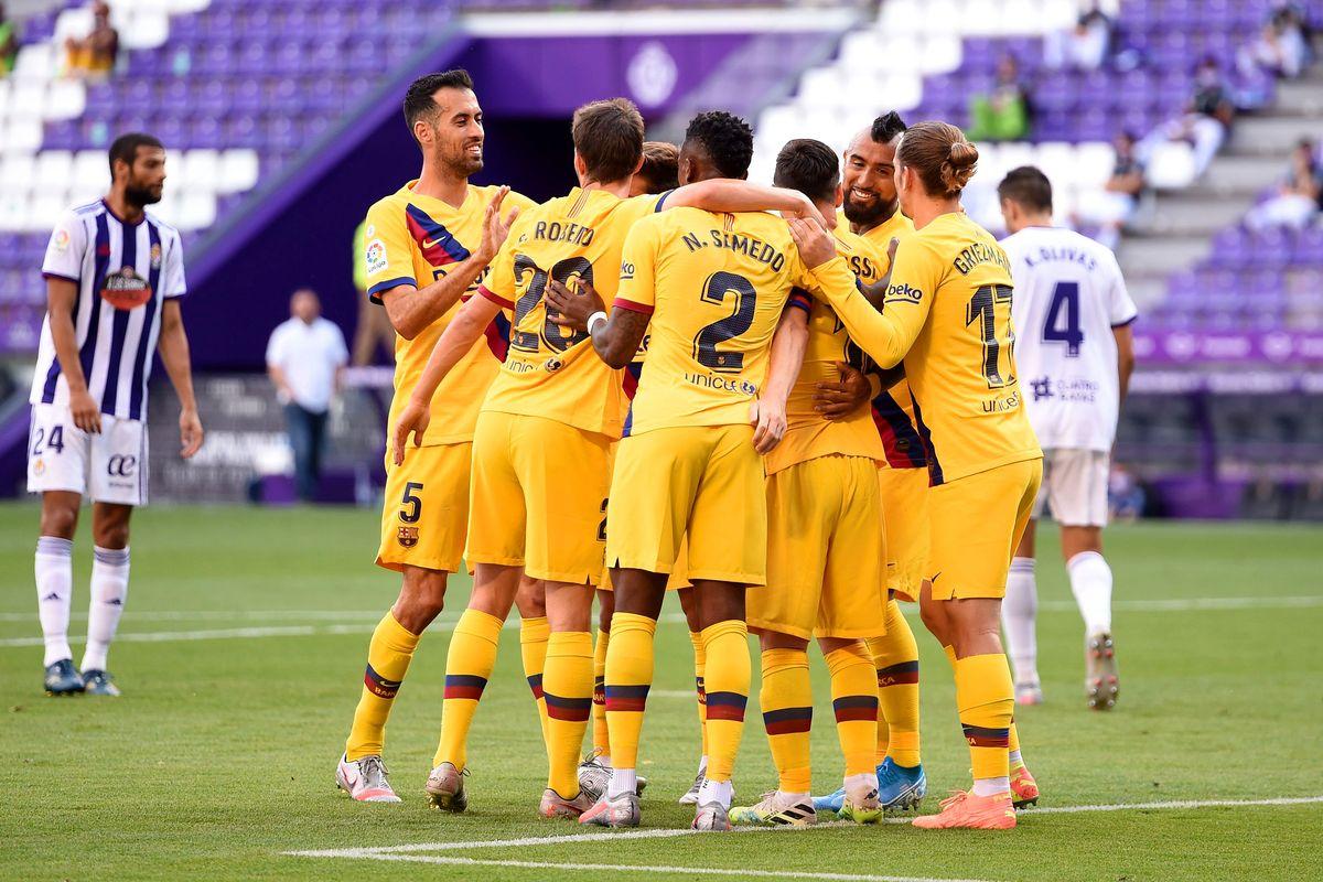 Barcelona gana al Valladolid y sigue en pelea por LaLiga