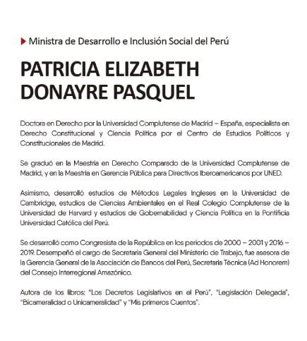 Ministra de Desarrollo e inclusión social