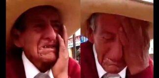 Anciano llora