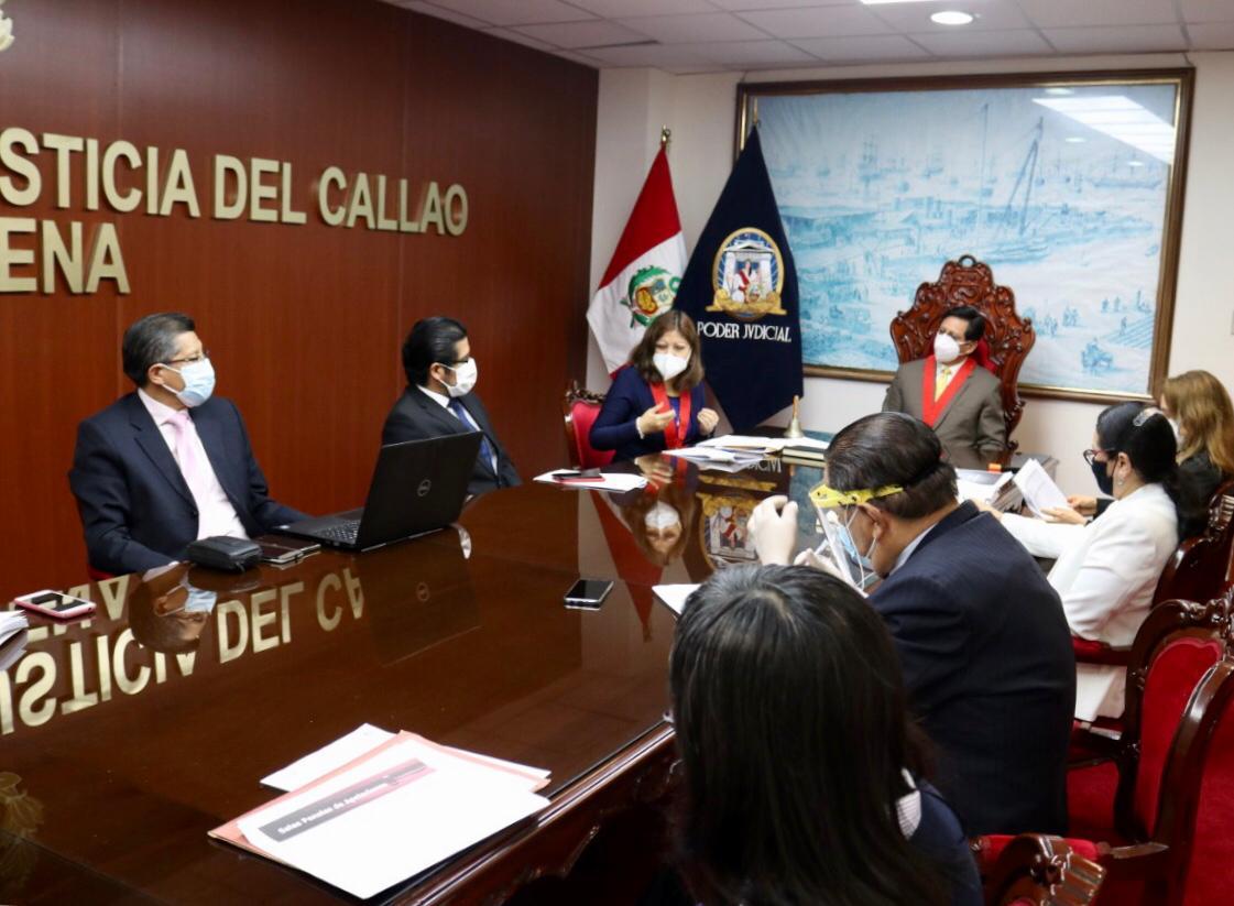 Equipo Técnico de Implementación del Código Procesal Penal del PJ reconoce trabajo y producción de la Corte del Callao