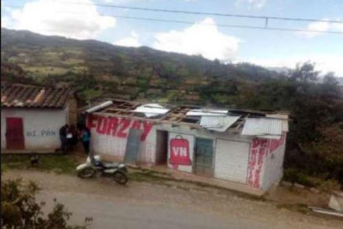 Huánuco: Fuertes vientos destecharon viviendas