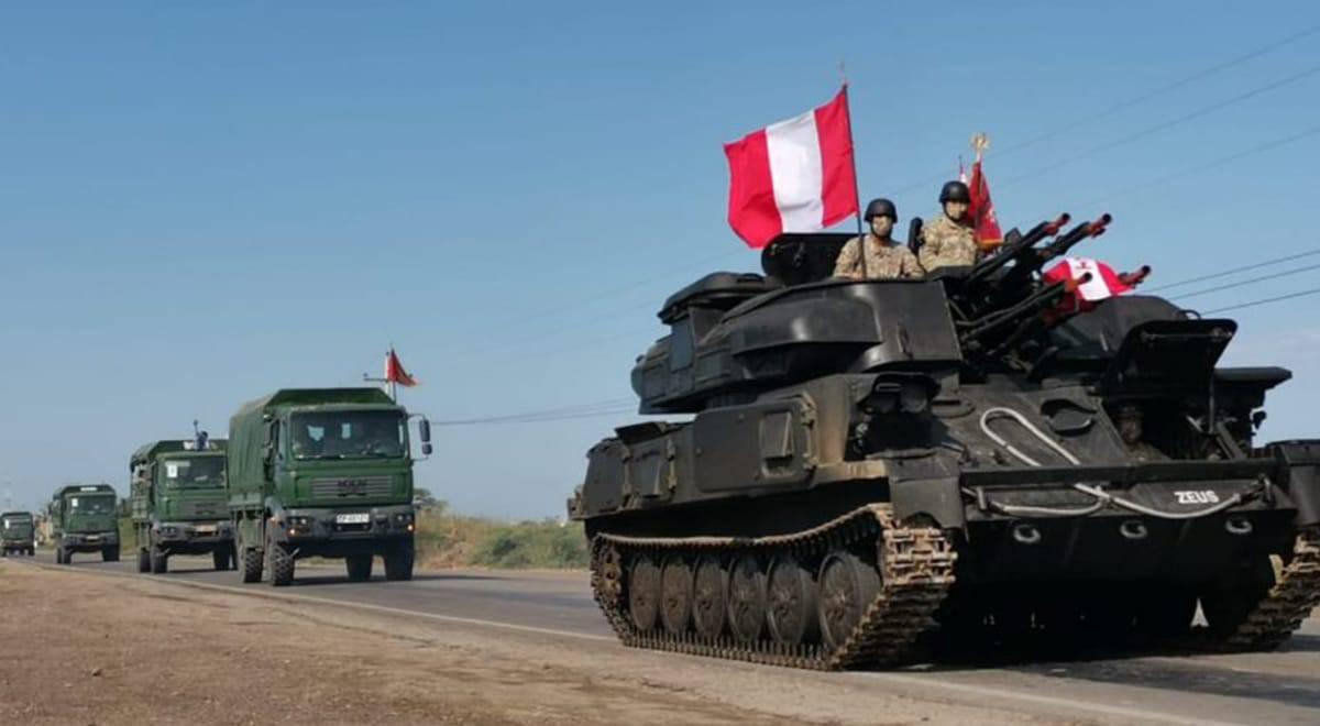 Ejército retiró tanques que resguardaban la frontera con Ecuador