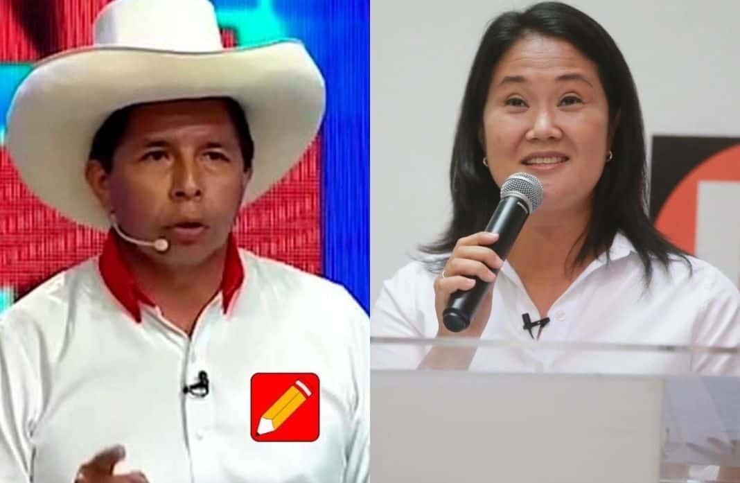ONPE al 100%: Pedro Castillo y Keiko Fujimori pasan a segunda vuelta