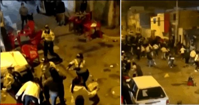 Atacan a policías para no ser intervenidos en kermés con concierto en Chorrillos