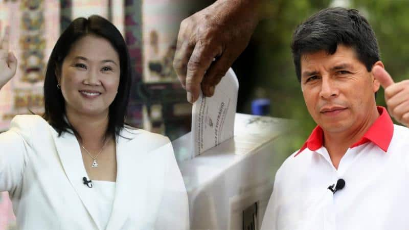 ONPE: Pedro Castillo logra 50,16% contra 49,83 de Keiko Fujimori