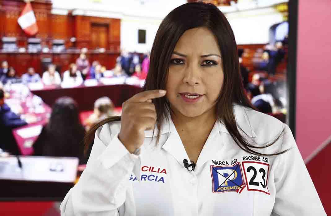 Archivan denuncia contra la congresista Cecilia García