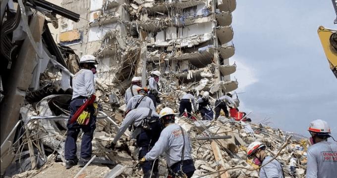 """Autoridades demolerán los restos de edificio derrumbado ante llegada de tormenta """"Elsa"""""""