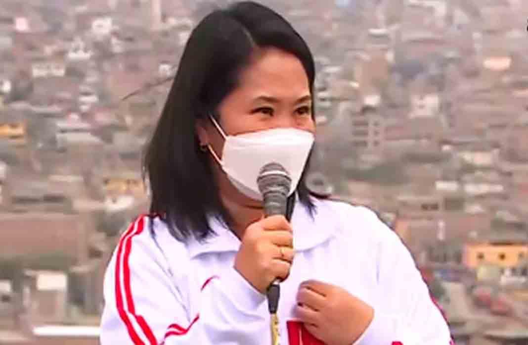 Keiko Fujimori: «Castillo está desesperado por quedarse en el poder»