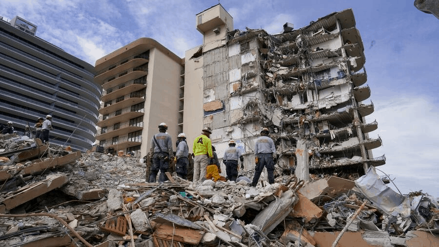 derrumbe de edificio