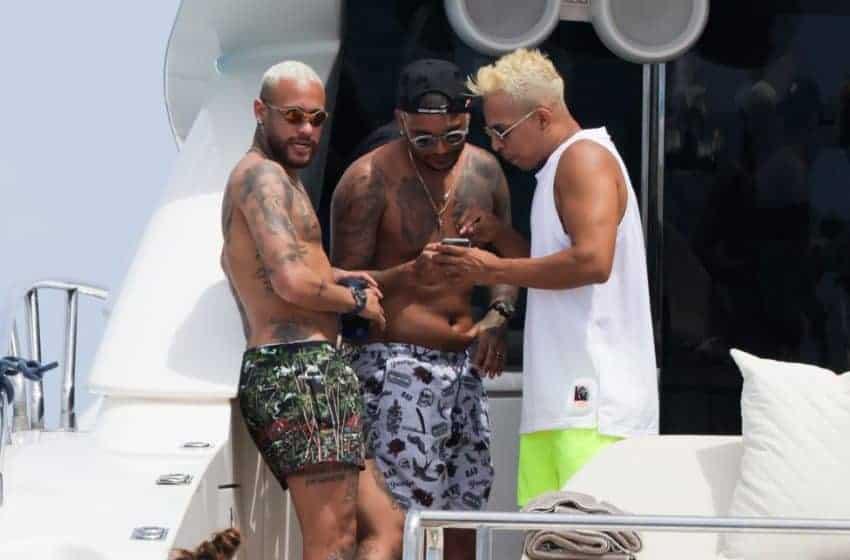 Neymar de vacaciones en Ibiza