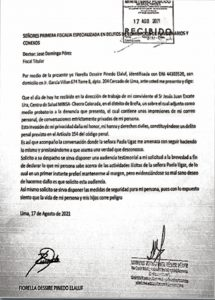 Carta Fiorella Desireé Pinedo Elaluf