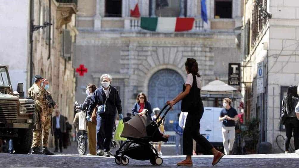 Italia población vacunada