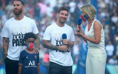El bautizo de Leo Messi en el Parque de los Príncipes