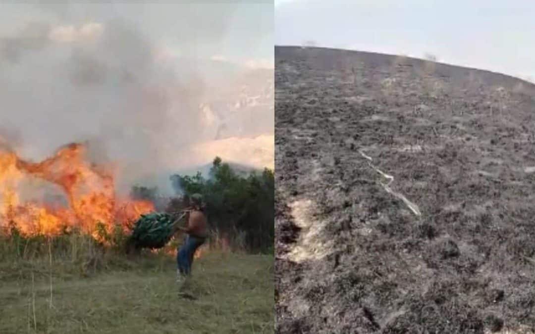 Inacabable incendio de tres días sigue afectando a Huánuco