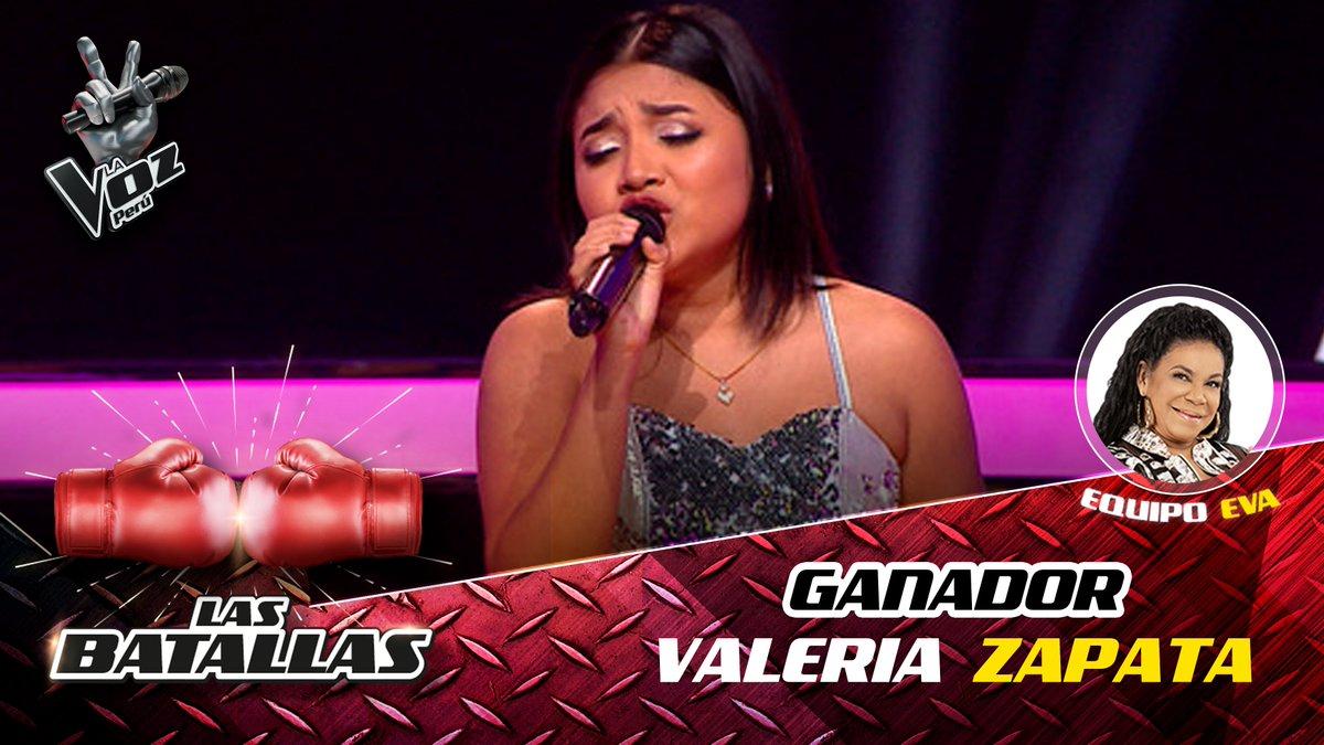Valeria Zapata pasa al gran final de La voz Perú