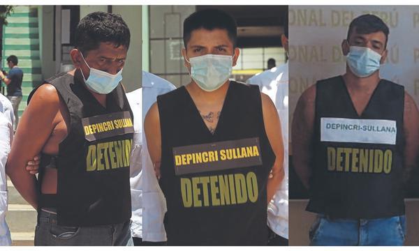 """Policía detuvo a tres integrantes de """"Los Injertos"""" de Talara"""