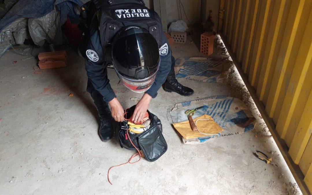 Extorsionadores dejan dinamita a comerciante para exigirle S/ 10.000