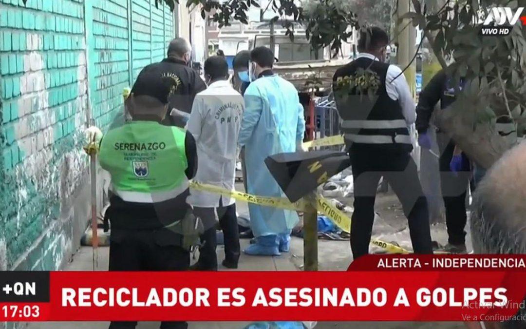 Reciclador es asesinado mientras dormía en la calle