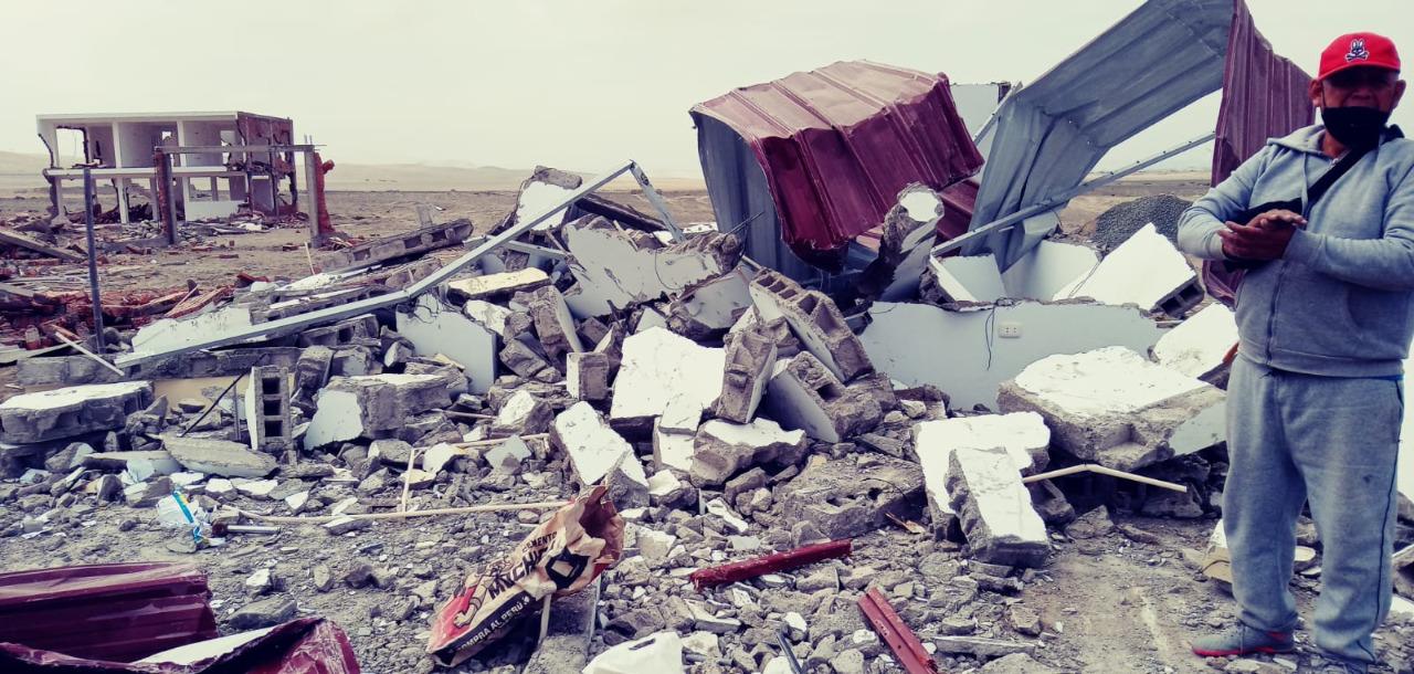 Familias denuncian destrucción de sus viviendas en Chinecas