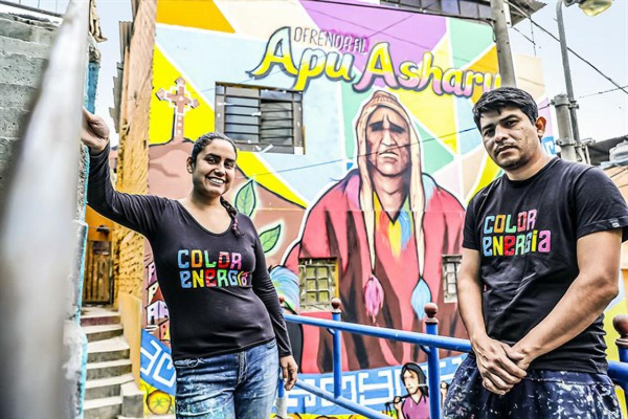 Arte e identidad: Así trabajan los muralistas del cerro San Cristóbal