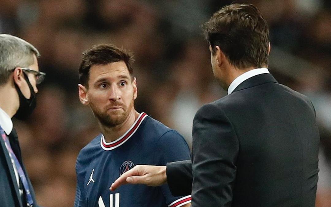Enfado de Messi al ser sustituido por Pochettino