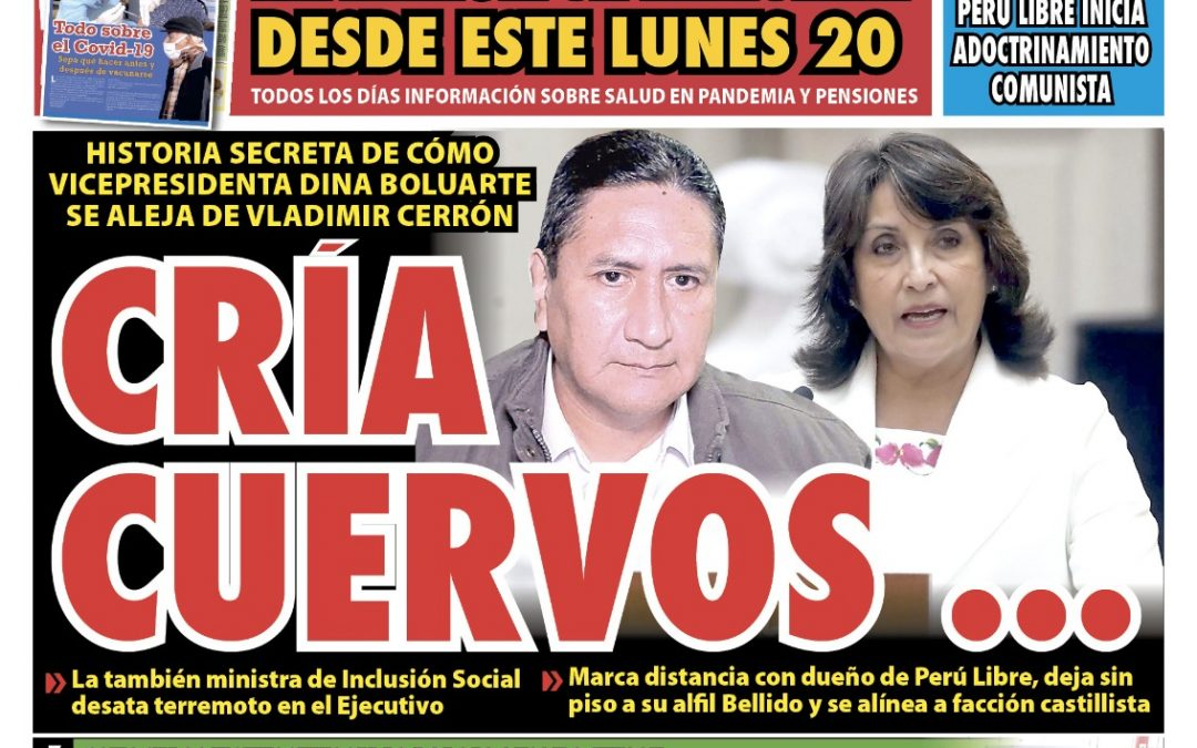 Portada impresa – Diario La Razón (18/09/2021)