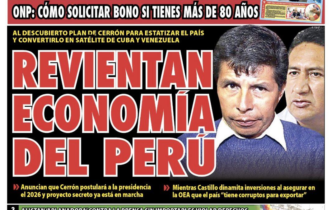 Portada impresa – Diario La Razón (21/09/2021)