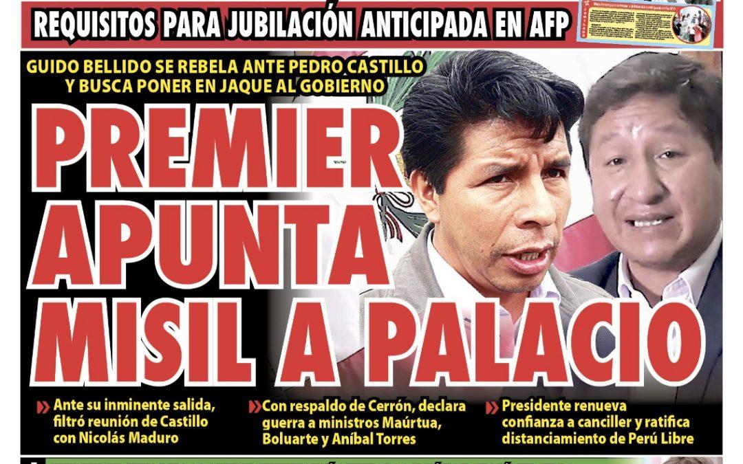 Portada impresa – Diario La Razón (23/09/2021)