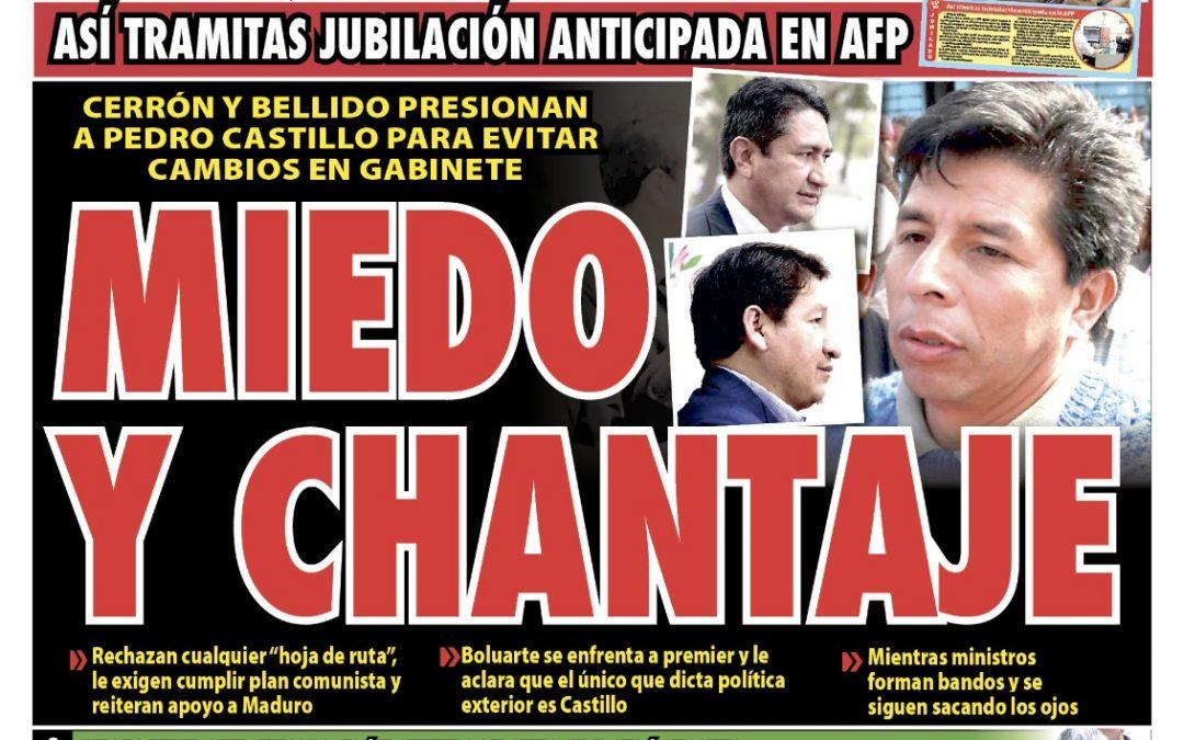 Portada impresa – Diario La Razón (24/09/2021)