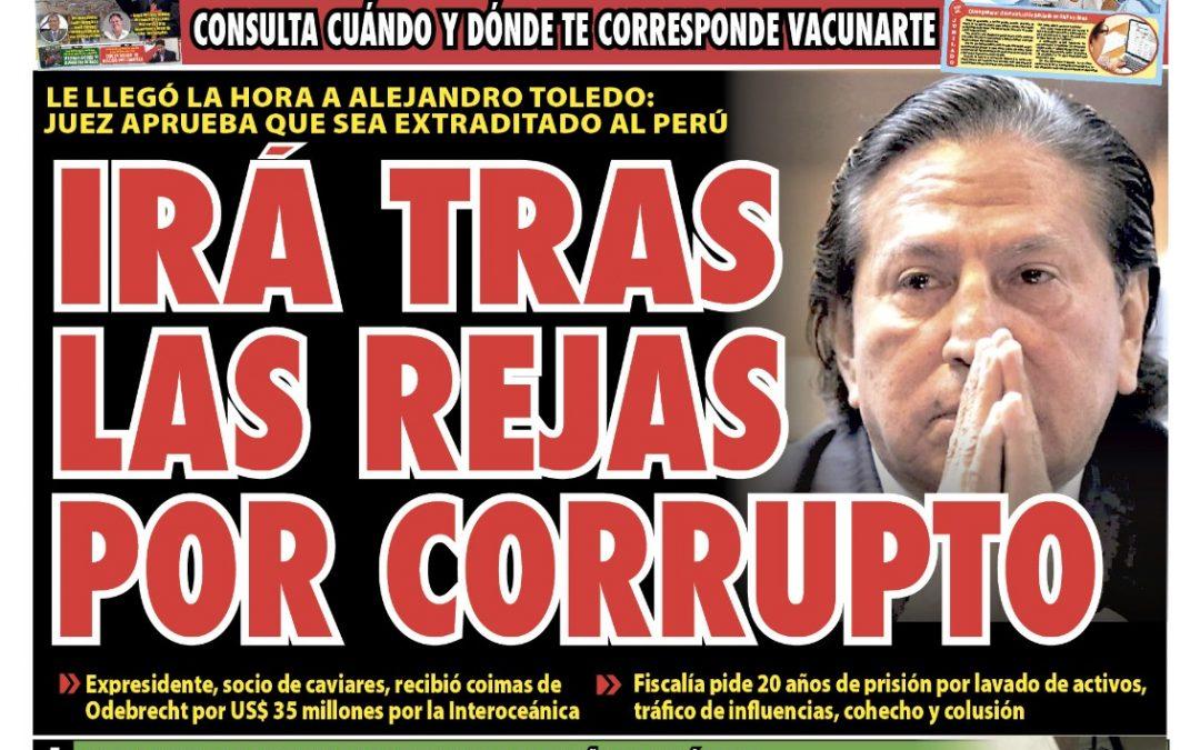 Portada impresa – Diario La Razón (29/09/2021)