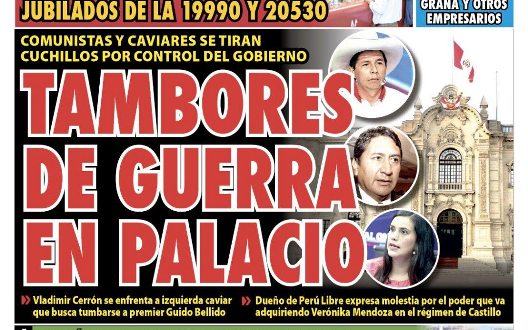Portada impresa – Diario La Razón (10/09/2021)