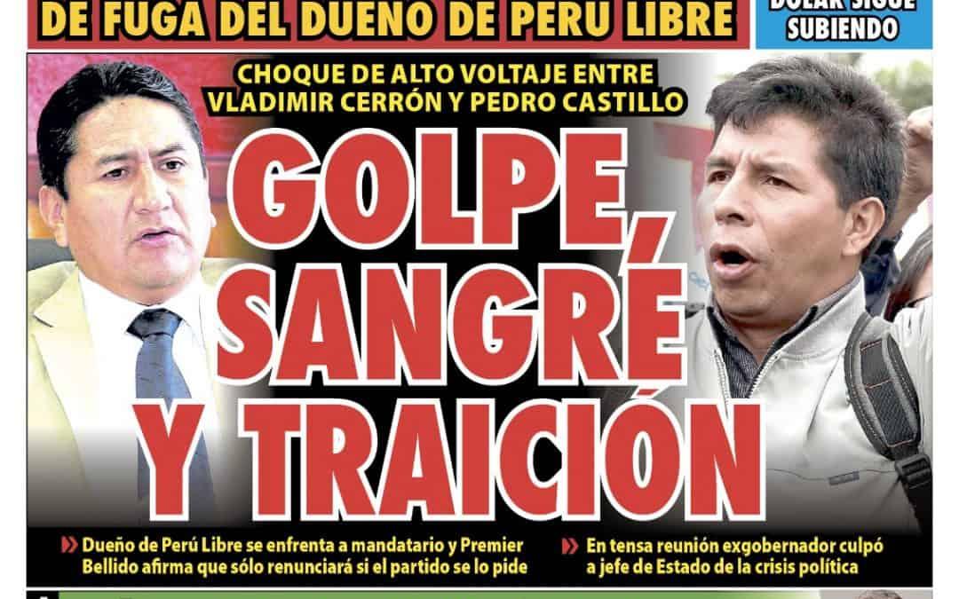 Portada impresa – Diario La Razón (11/09/2021)
