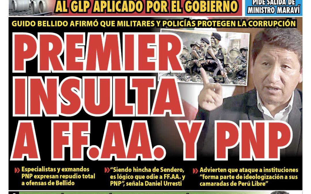 Portada impresa – Diario La Razón (09/09/2021)