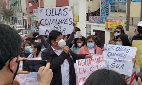 Vecinos de San Juan de Lurigancho llegan al Congreso por falta de agua