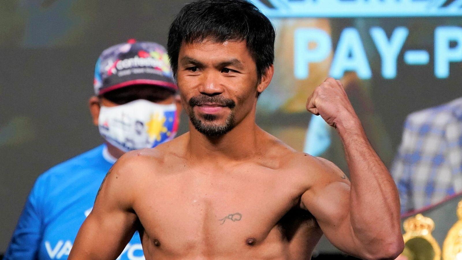 El boxeador Manny Pacquiao anunció su candidatura presidencial de Filipinas