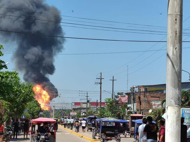 Pucallpa: se registra incendio en planta envasadora de gas