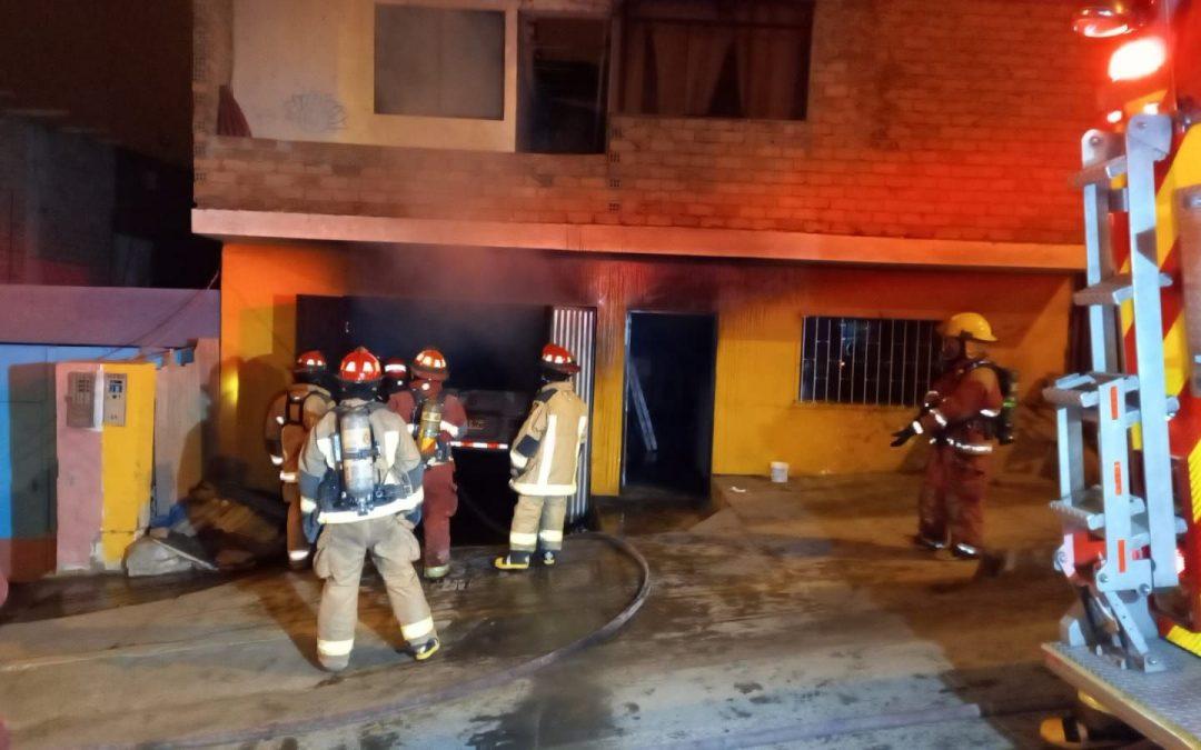 Chorrillos: Familia se salva de morir tras incendiarse su vivienda