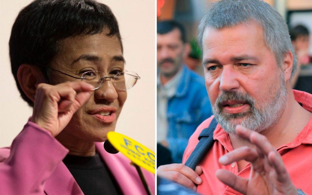 Nobel de la Paz para periodistas al luchar por los derechos humanos