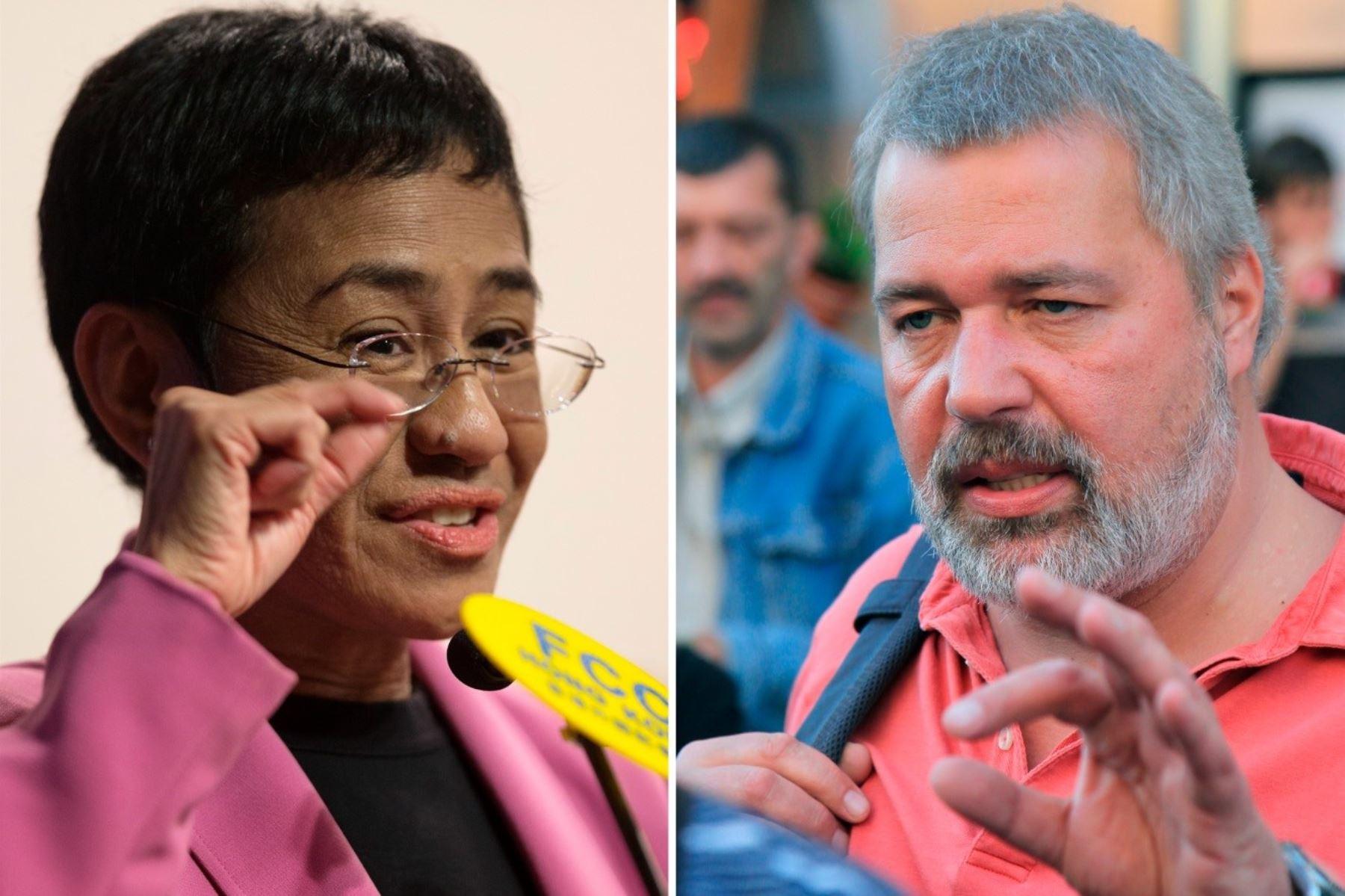 Nobel de la Paz 2021: periodistas reciben premio por luchar por los derechos humanos.