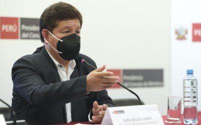 """Guido Bellido afirma que """"el pueblo no tolerará traiciones"""""""