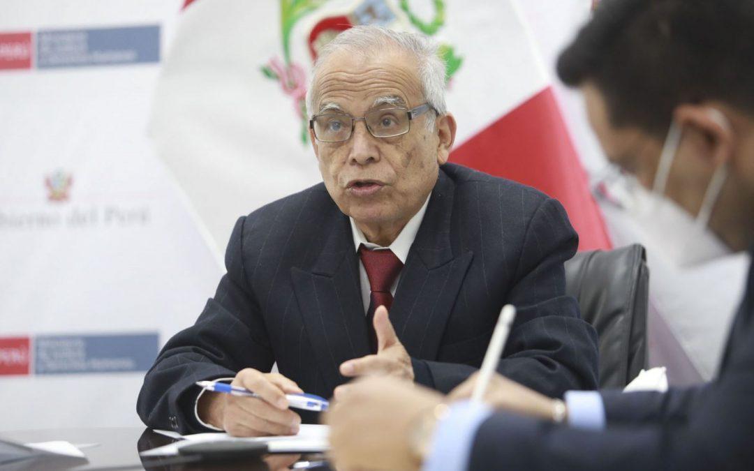 """Ministro Aníbal Torres sobre Richard Rojas: """"No ha sido nombrado embajador"""""""