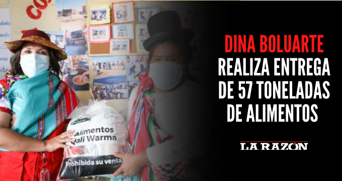 Dina Boluarte realiza entrega de 57 toneladas de alimentos