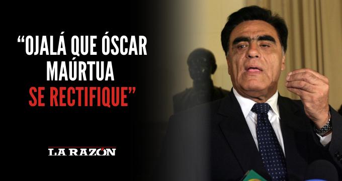 """Gonzales: """"Ojalá que Óscar Maúrtua se rectifique"""""""