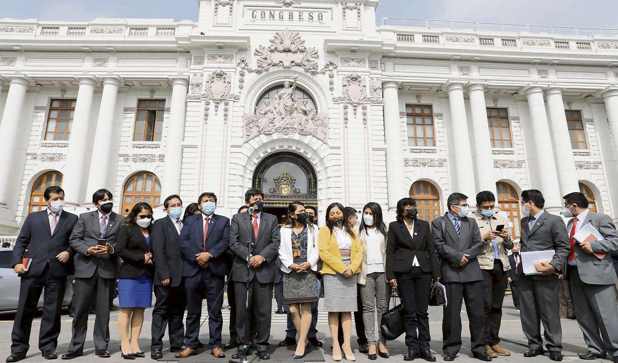 Perú Libre no dará voto de confianza, anuncia expulsiones y recomposición