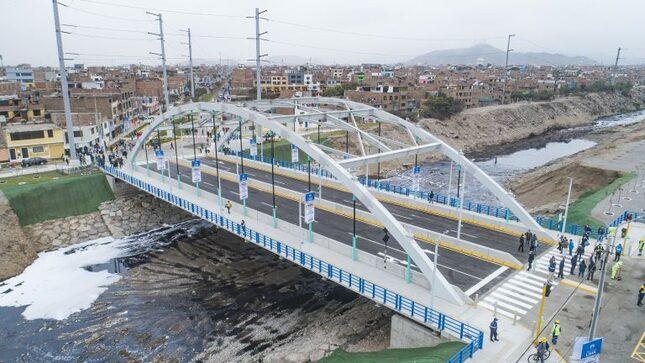 Delincuencia en puente recién inaugurado en San Martín de Porres